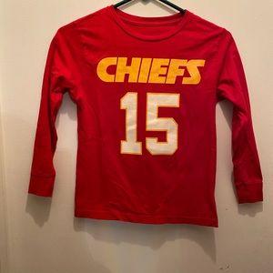 Boys Chiefs Mahomes Long Sleeve Shirt